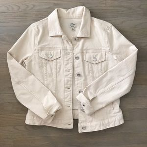 NWOT J. Crew cream denim jacket size M